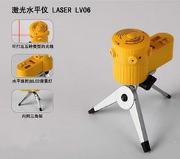 Venta caliente Adorne la línea Equipo de medición de la herramienta de la regla del ángulo láser láser nivel lv06 con el trípode Venta al por mayor