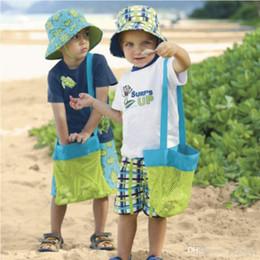$enCountryForm.capitalKeyWord Australia - Storage Bags Fashion Beach Mesh Bags Sand Away Collection Toy Bag Storage For Sea Shell Kids Children Tote Organizer two colors