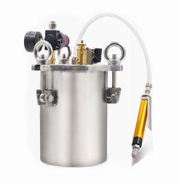 dispense machine Canada - Manual High Precision Glue Dispenser High Flow Dispensing Valve 3L Stainless Steel Pressure Tank Simple Dispensing Machine