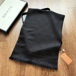 Scarfs Cotton Australia - 2019 luxury wool scarf high quality scarf soft cotton bright silver yarn-dyed jacquard print scarf
