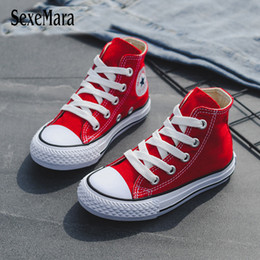 high tops sneakers for girls 2019 - Children Casual Shoes Unisex 2019 Classic High Top Girls Canvas Shoes Student Lace Up Sneakers For Boys New Toddler Shoe