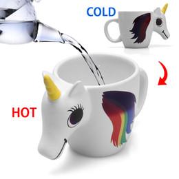 $enCountryForm.capitalKeyWord Australia - 300ml 3d Color Changing Ceramic Mug Temperature Unicorn Coffee Tea Milk Hot Water Cup Drinkware Colour Novetly Christmas Gift T8190627