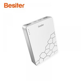 Portable Battery Charger Cell Phones Australia - Besiter 10000mah Portable Quick Charge for Phones Battery Cell Charging Charger Type-C input External Battery Packs Car Charger