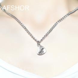 Wholesale Mom Pendant Australia - Hot Tiny Heart Mom Charm Necklace for Women 45 cm Long Chain Heart Shape Pendant Necklace Gift Ethnic Bohemian Choker Necklace drop shipping