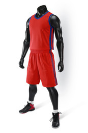 red basketball jerseys UK - 2019 New Blank Basketball jerseys printed logo Mens size S-XXL cheap price fast shipping good quality A006 RED BLUE RB003