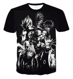Discount cartoon printed couple t shirts - Fairy Tail Natsu Anime T Shirt Men 3D Shirts Unisex Tee Couple Tee Shirs Cartoon Shirts for Child Anime Fans 8 Styles S-