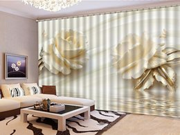 $enCountryForm.capitalKeyWord Canada - Custom Curtain Two Delicate Pink Roses 3D Floral Curtains Living Room Bedroom Beautiful Practical Shade Curtains