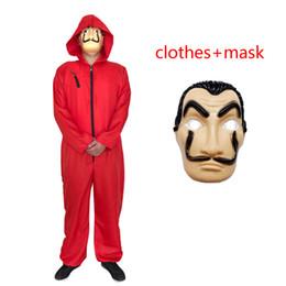 Masks setting online shopping - La casa de papel Season Cosplay clothes New Kids adult Halloween costume cosplay Salvador Dali clothes mask sets B