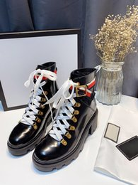 $enCountryForm.capitalKeyWord Australia - Latest New Designer Casual Fashion Short Boots Lace Up 6cm Chunky Heel Patent Leather Ankle Strip Women Martin Boots 36-40