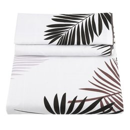 leaf bedding UK - 3Pcs Soft -Leaf Fan Floral Printing Duvet Cover Soft Bedding Set Sheet Pillow Kit