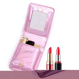 mini cosmetic bags Australia - eTya Fashion Laser Mini Cosmetic Bag Leather Women Travel Lipstick Coin Storage Pouch Female Purse Small Makeup Bag Organizer
