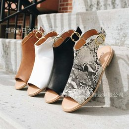 Flat Backing Australia - Elegant Flat With Rome Gladiator Women Sandals T-Strap Back Strap Concise Boho Shoes Buckle Peep Toe Plus Size Sandals