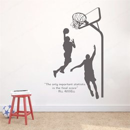 Wholesale star quotes for sale – custom Basketball Star Quotes Wall Decal Basket Sticker Sport Decoration For Teenager Basketball Court Room Kids Wall Mural