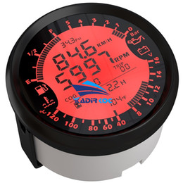 Wholesale Auto 6-In-1 Multifunction Gauge Modification 85mm GPS Speedometer Tach Fuel Gauge 8-16v Volt Meter Water Temp Meter 0-5Bar Oil Pressure