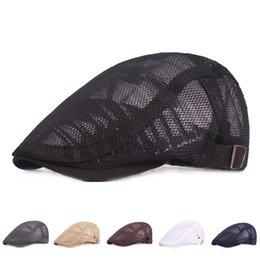 Duckbill hats men online shopping - 2019 Summer Beret Hat Men Women Ivy Flat Cap Vintage News boy Hat Adjustable Breathable Sun Duckbill Caps