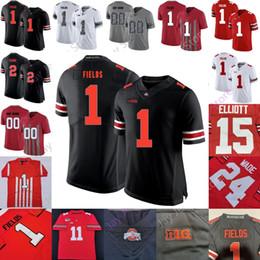 Toptan satış Özel Ohio State Buckeyes Futbol Jersey NCAA Kolej Garrett Wilson Eddie George Justin Alanlar Chase Genç JK Dobbins Kadınlar Gençlik Kid