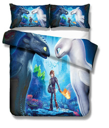 China 3D How to Train Your Dragon Bedding Set Light Fury Night Fury Duvet Quilt Cover suppliers