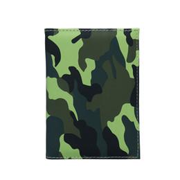 $enCountryForm.capitalKeyWord UK - Travel Designer Army Camouflage Pu Passport Cover Women Men Credit Card Id Holder Case Ticket Wallet Document Clip Organizer