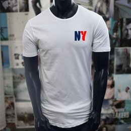 $enCountryForm.capitalKeyWord NZ - New York Statue Of Liberty City Nyc Pride Travel White Extended Long T-Shirt T Shirt Men 2017 Short Sleeve Fashion Custom Plus Size Couple T
