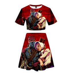 $enCountryForm.capitalKeyWord UK - Frdun Tommy Two Piece Sets Red Dead Redemption 2 Beautiful Girl Short sleeve Tees and Short Skirt Loose Fashion Short skirt suit