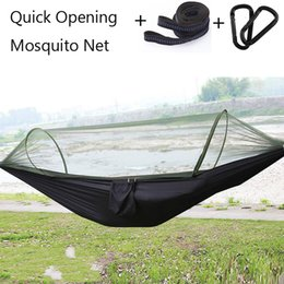 Leisure chairs online shopping - Single Automatic Quick Opening Mosquito Net Hammock Camping T Nylon Spinning Hanging Chair cm Leisure Swing Bed