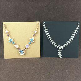 $enCountryForm.capitalKeyWord NZ - 100Pcs Lot 10x10cm Fashion Classic Craft Paper Square Bracelet Necklace Card For Ladies Jewelry Accessory Display Accept Custom