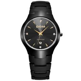 DOM Luxury Sapphire Crystal Top Brand Men's Watch Tungsten Steel Wrist Waterproof Business Quartz Watches Fashion Clock W-698