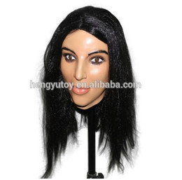 Wholesale new sexy film for sale – custom 2019 Top Grade New Adult hot sexy crossdress Mask Luxury latex female mask for male and female cosplay crossdress mask fancy dress up