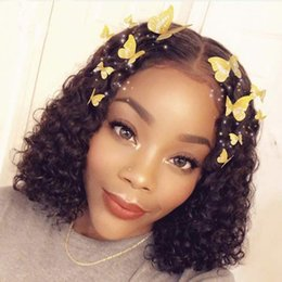 $enCountryForm.capitalKeyWord Australia - Brazilian Jerry Curl Wig Curly Lace Front Human Hair Wigs Lace Frontal Wig Short Bob Pre Plucked With Baby Hair Lace Closure Wig