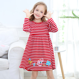 Discount girls princess dress pattern - Party Dress for Girl Princess Long Sleeve Animals Patterns Christmas Dress Designer Baby Kids Clothes Soft and Stylish B