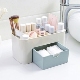 Office Drawer Box Australia - Hoomall Makeup Case Office Storage Drawer Casket Brush Box Cosmetic Jewelry Organizer Lipstick Remote Control 22*10.5*10.5cm