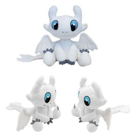 China 20pcs 25cm (9.84inch) How to Train Your Dragon 3 Plush Toy 2019 New movie Toothless Light Fury Soft White Dragon Stuffed Doll Christmas Gift cheap toys dragons suppliers