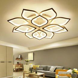 Venta al por mayor de Moderna lámpara de techo de acrílico con control remoto, sala de estar, lámpara de dormitorio, accesorios de iluminación, iluminación para el hogar, 110-220 V