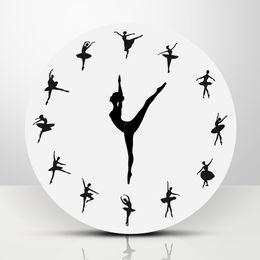 $enCountryForm.capitalKeyWord UK - Ballet Dancer Modern Design Wall Clock Charming Ballerina 3D Wall Clock Creative Nursery Decor Unique Gift For Ballerina