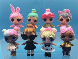 $enCountryForm.capitalKeyWord Australia - 8pcs lot LOL doll toy desktop decoration PVC Action Figure baby doll toy girl decoration dressing doll