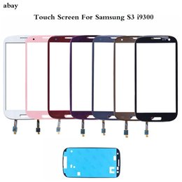 $enCountryForm.capitalKeyWord Australia - New Touch Screen For Samsung Galaxy SIII S3 i9300 Front Touch Screen Glass Lens Digitizer With Free adhesive Replacement Parts
