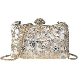 Discount diamond chain bag - Pink sugao crystal Luxury evening bag Bling party purse top diamond Boutique Gold silver women wedding Day clutch should