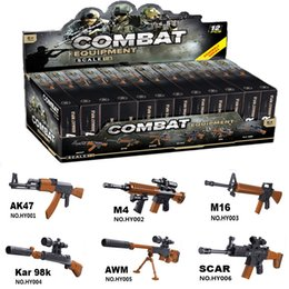 $enCountryForm.capitalKeyWord Australia - 12pcs Sliencer 98K Soldiers Weapons Pack Guns and Accessories for Minifigures Building Blocks Military Toy PUBG Gun Toys