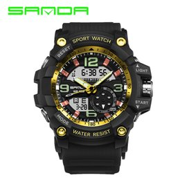 acrylic calendar display 2020 - SANDA Digital Watch Men Military Army Sport Watch Water Resistant Date Calendar LED ElectronicsWatches relogio masculino