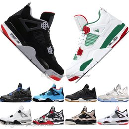 Laser cut out box online shopping - With Box Newest Bred IV s What The Cactus Jack Laser Wings Mens Basketball Shoes Eminem Pale Citron Men Sports Designer Sneakers Trainers