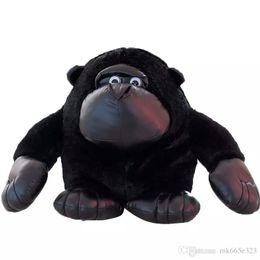 Stuffed Animal Monkey Toy Australia - Plush Toys Orangutan Stuffed Cute Realistic Animal Ape Gorilla Chimpanzee Monkey Toy Valentine's Day Love Gifts 28cm