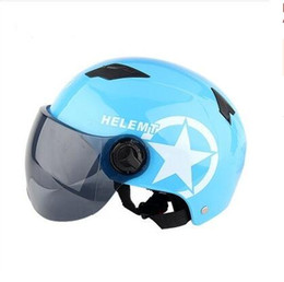 $enCountryForm.capitalKeyWord Australia - Motorcycle Helmet Scooter Bike Open Face Half Baseball Cap Anti-UV Safety Hard Hat Motocross Helmet Multiple Color Protect