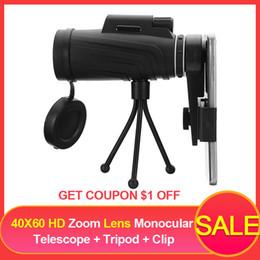 $enCountryForm.capitalKeyWord Australia - 40x60 Hd Zoom Lens Monocular Telescope + Tripod + Clip For Samsung For Iphone Xiaomi Huawei Camping Travel Waterproof Phone Lens J190704
