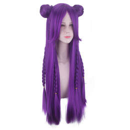 $enCountryForm.capitalKeyWord NZ - Hair Care Wig Stands Women's Fashion Wig Purple Anime Medium Rose Net Wigs 31.5 inches Game Cosplay Rose Net 2019 Feb19