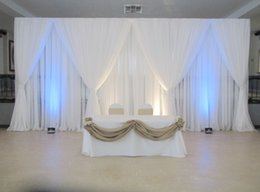Fabric Curtains For Party Decorations Australia - Wedding Backdrop And Silk Fabric Curtain Swag For Wedding Party Banquet Decoration