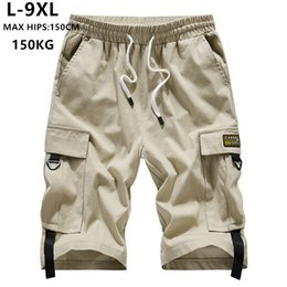 mens shorts 7xl Australia - Summer Shorts Men Cargo Brand Short Bermuda Hombre 6XL 7XL 8XL 9XL Mens Corto Hip Hop Hiphop Boys Cotton Casual Teenagers Ropa Y200511