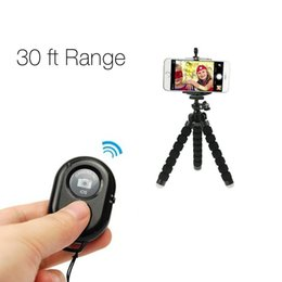 $enCountryForm.capitalKeyWord Australia - new portable mini wireless selfie stick tripod bluetooth remote control camera Self-timer shutter for iPhone and android smart mobile phone