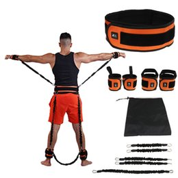 Gym stretchinG rope online shopping - Bounce Trainer Rope Elastic Resistance Bands Fitness Expander Basketball Jump Workout Leg Stretching Agility Training Gym Roe