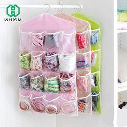 $enCountryForm.capitalKeyWord Australia - 16 Pockets Over Door Hanging Bag Box Shoes Organize Rack Hanger Storage Tidy Storage Box Hanging Bags Home Closet