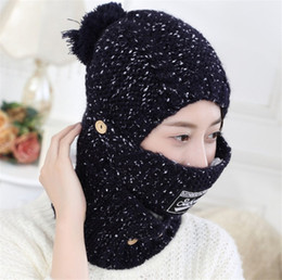 ea931406 2 Pieces Set Winter Hat And Scarfs Set For Women Warm Suit Girls Wool Hats  Thicken Multicolor Designer Scarves Beanie Knitted Caps Crochet
